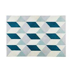 Tapis en tissu motifs graphiques ...