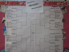 March Book Madness --- loooove!    Read through the blog to see how it all turned out... SO doing this in March! :)