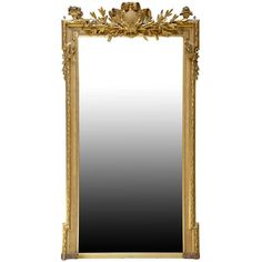 Louis 16 Style Gilded Wood Pier Glass, 19th Century