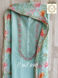 Stylish Dresses For Girls, Stylish Dress Designs, Embroidery On Clothes, Embroidery Suits, Designer Party Wear Dresses, Indian Designer Outfits, Simple Dress Casual, Nimrat Khaira, Pattu Saree Blouse Designs