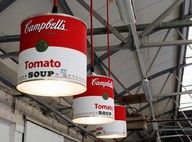 Campbell soup can lights. needs some paint or something though.