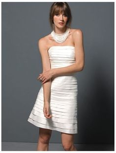 Taffeta Strapless A-Line 2 in 1 Wedding Dress with Detachable Tiered Skirt