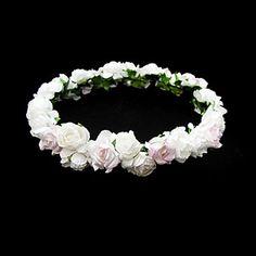schöne+Papierblume+Hochzeit+Blumenmädchen+Kranz+–+EUR+€+1.95