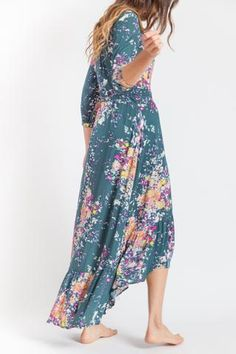 Morgan Dress Forest and Mauve