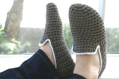 Pantofole all'uncinetto fai da te - Pantofole da uomo