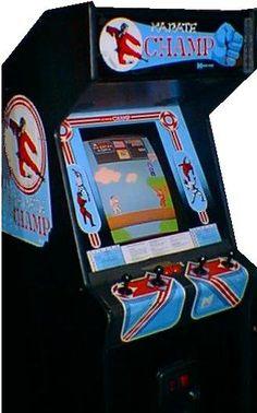 Karate Champ by Data East. Vintage Video Games, Classic Video Games, Retro Video Games, Computer Video Games, The Computer, Arcade Game Room, Arcade Games, Mini Arcade, Retro Arcade