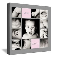 Quadro de fotos - bebê - decoração