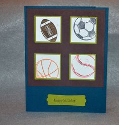 Card made with Stampin' Up set...Great Sport