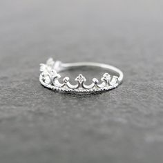 Adorable tiara ring fit for a princess