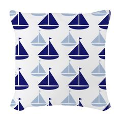 Use these Pillows to accent any living room or bedroom. Customize a pillow or pick from the many throw pillow designs in any size and fabric you want. Nautical Throws, Sailboats, Designer Throw Pillows, Pillow Design, Fabric, Sailing Yachts, Tejido, Tela, Sailboat