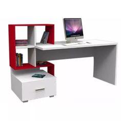 Escritorio - Organizador, Moderno Con Estante En Melamina - S/. 350,00