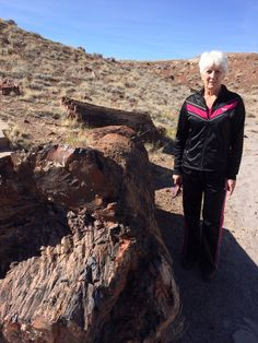 Hiking the Petrified Forest is exercise too!!