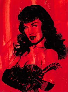 I ♥ Bettie Page art Bettie Page, Olivia De Berardinis, Rockabilly Pin Up, Portraits, Pin Up Style, Pin Up Girls, Bunt, Art Girl, Comic Art