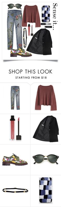 """""""SMA"""" by xxelectre on Polyvore featuring Chicwish, Jouer, Anouki, Ray-Ban, Shay, Bobbi Brown Cosmetics, casualoutfit, artset e polyvoreeditorial"""