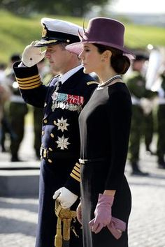 Crown Prince Frederik & Crown Princess Mary -- a handsome couple.
