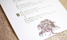 Letterpress Forest invitation by Wiley Valentine