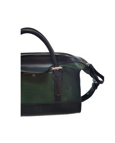 'Fern' Handmade Leather Handbag with zip and top handle