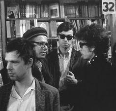 Allen Ginsberg with Bob Dylan und Robbie Robertson