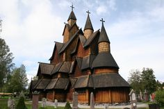 wooden cathedral, Scandinavia