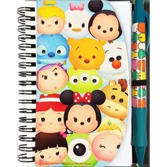 Disney Tsum Tsum Pen and Notebook Set ($28) ❤ liked on Polyvore featuring home, home decor and stationery