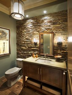 63 Sensational bathrooms with natural stone walls | Natural stone ...