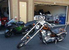 2009 Big Dog K9 motorcycle - Ninja ZX-14R