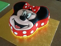 Mini mouse cake.                                            Sweets by Mandy.                                           betweenthelayerstreats@gmail.com