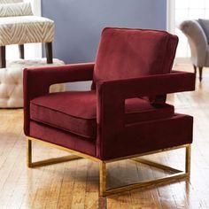 Anya Velvet Arm Chair | Joss & Main