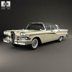 Edsel Ranger sedan 1958 3d model from humster3d.com. Price: $75