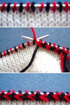 "How to knit ""Kihnu vits"""