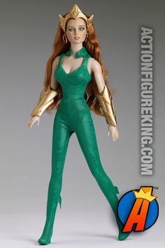 16-inch New 52 Mera Queen of Atlantis fashion figure from Tonner. Visit site for full details including availability and pricing. #mera #aquaman #queenofatlantis #tonner