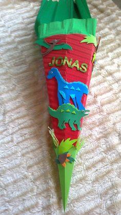 Schultüten - Schultüte Bastel-Set Dino od. fertig gebastelt - ein Designerstück von kreativ-was-sonst bei DaWanda