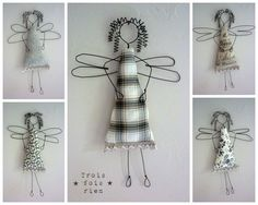 wire and fabric angels. Too cute!