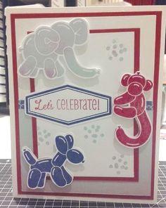 CTMH Balloon Animals SOTM. Card by Sharon Delpol