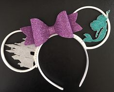 Diy Disney Ears, Disney Minnie Mouse Ears, Disney Diy, Little Mermaid Castle, The Little Mermaid, Disney Honeymoon, 3d Printed Objects, Mermaid Disney, 3d Prints