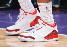 6673fd9723f9 Chris Paul Brings Out Exclusive Air Jordan 3 Red Cement For Final Game Of  NBA Season