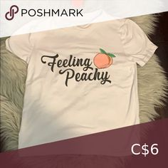 feeling peachy pj and chill top selling for cheap super cute not brandy- just tagged for exposure never worn smoke free home Brandy Melville Tops Tees - Short Sleeve Brandy Melville Graphic Tees, Brandy Melville Tops, Tied T Shirt, Crop Shirt, Oversized Tee, Pj, Chill, Floral Tops, Smoke Free