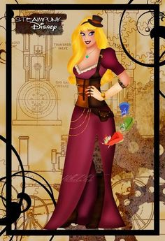 Revamped Iconic Cartoons : Steampunk Disney Princesses