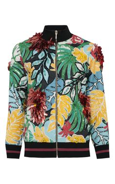 Embroidered  Bomber Jacket  by PATBO for Preorder on Moda Operandi