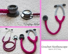 Crochet Stethoscope! Perfect for any nurse, student nurse, MA, doctor! To order one just follow the link!