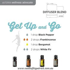 Feel energized when you diffuse these oils together.  www.caitlinfitzpatrick.com.au