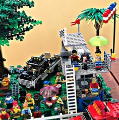 Lego Speed Champions, Lego Projects, Garage, Racing, Autos, Carport Garage, Running, Auto Racing, Garages