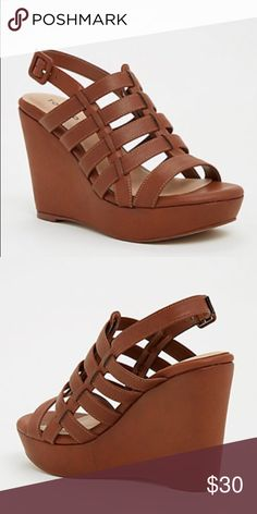 5c68aa5831d Torrid straps faux leather wedges (wide width) Brand new. Never worn.  Excellent