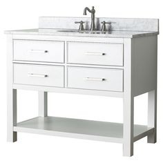 Avanity Brooks White 42-inch Vanity Combo - Overstock Shopping - Great Deals on Bathroom Vanities