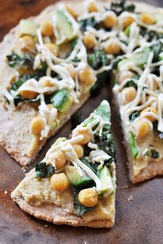 Vegan Hummus, Avocado and Chickpea Pizza - The Colorful Kitchen