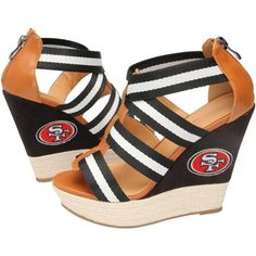 Cuce Shoes San Francisco 49ers Women's Rookie 2 Sandals - Black/Brown
