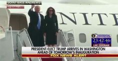 Video: President-Elect Donald Trump, Melania Trump and Family Arrive in Washington, DC for the Inauguration, Thurs., Jan. 19, 2017