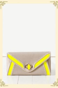 J'adore this francesca's bag - Neon-velope Clutch