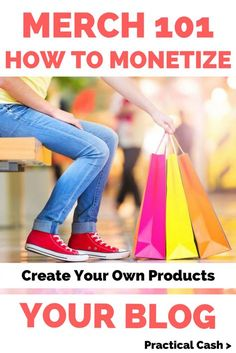 Merch 101: Create Your Own Physical Products and Learn How to Monetize Your Blog #blogger #blogging #makemoneyblogging #merch #sidehustle Make Money Online Surveys, Earn More Money, Earn Money From Home, Make Money Blogging, Saving Money, Part Time Business Ideas, Retirement Strategies, Entrepreneur, Becoming A Blogger