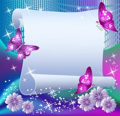 Illustration of Magic background with paper, butterflies and a place for text vector art, clipart and stock vectors. Dream Background, Magic Background, Butterfly Background, Photo Background Images, Butterfly Wallpaper, Butterfly Mobile, Boarder Designs, Page Borders Design, Beautiful Landscape Wallpaper